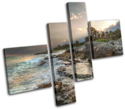 Mexico Caribbean Sunset Seascape - 13-0339(00B)-MP02-LO